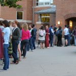 Students in line for 'Hamlet'