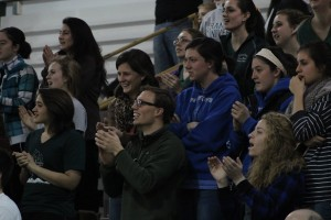 Crowd cheers on Lady Barons