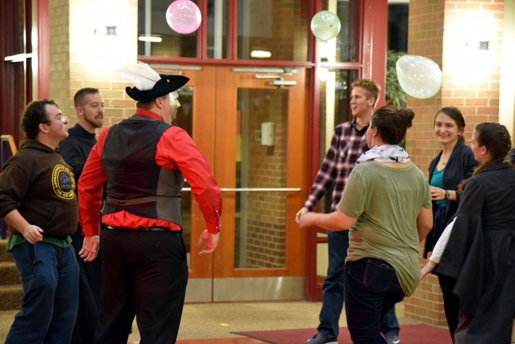 Photo by Elizabeth Feudo. Students enjoy themselves at the Daughters of Jerusalem Halloween themed dance.