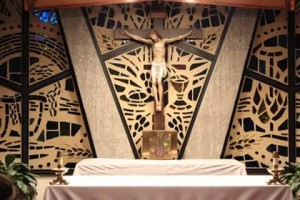 Photo by Joseph Palmer. Tabernacle in Christ the King Eucharistic Chapel.