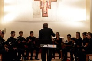 The Franciscan Chorale performs at their semestral concert. (Photo by Elizabeth Feudo)
