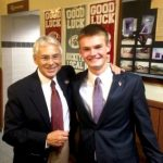 Steubenville mayor with campaign manager, Alex McKenna