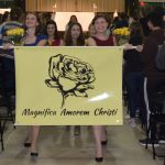 Magnifica Amorem Christi leads the household banner walk