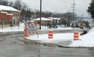 Road closed - Water Main Breaks