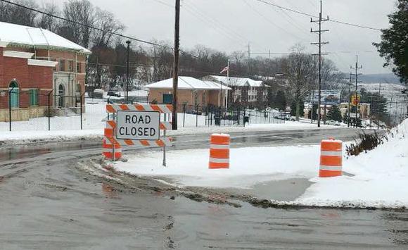 Road closed - Water Main Breaks